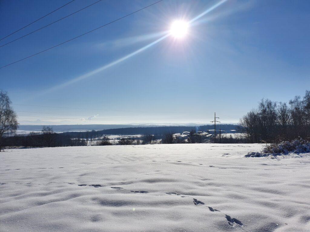 Zima v Peci